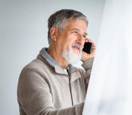 senior man calling